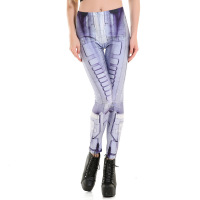 Leggings Fashion 3D Robot Print Milk Silk Leggings High Elastic Length Trousers Leggings For Work