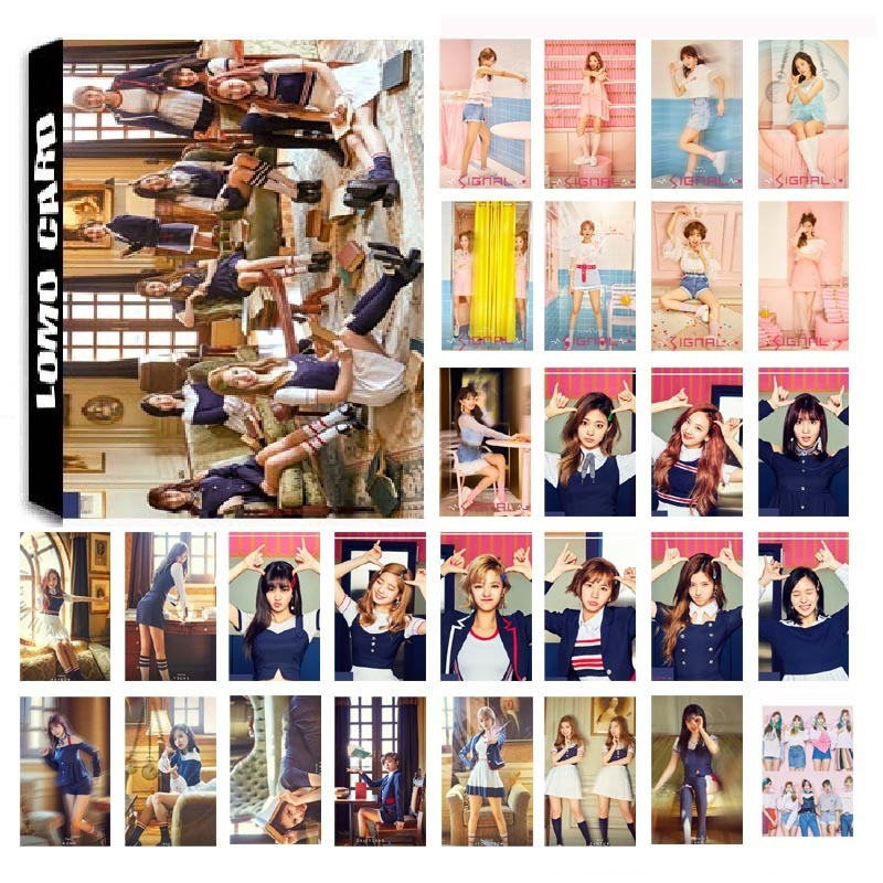 New 30Pcs/set KPOP TWICE 04 SIGNAL Album Photo Card PVC Cards Self Made LOMO Card Photocard