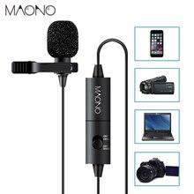 MAONO 6 m Handsfree Microfone de Lapela Clip on Microfone De Lapela Colar Microfone Condensador Microfone para DSLR Camera PC Smartphones