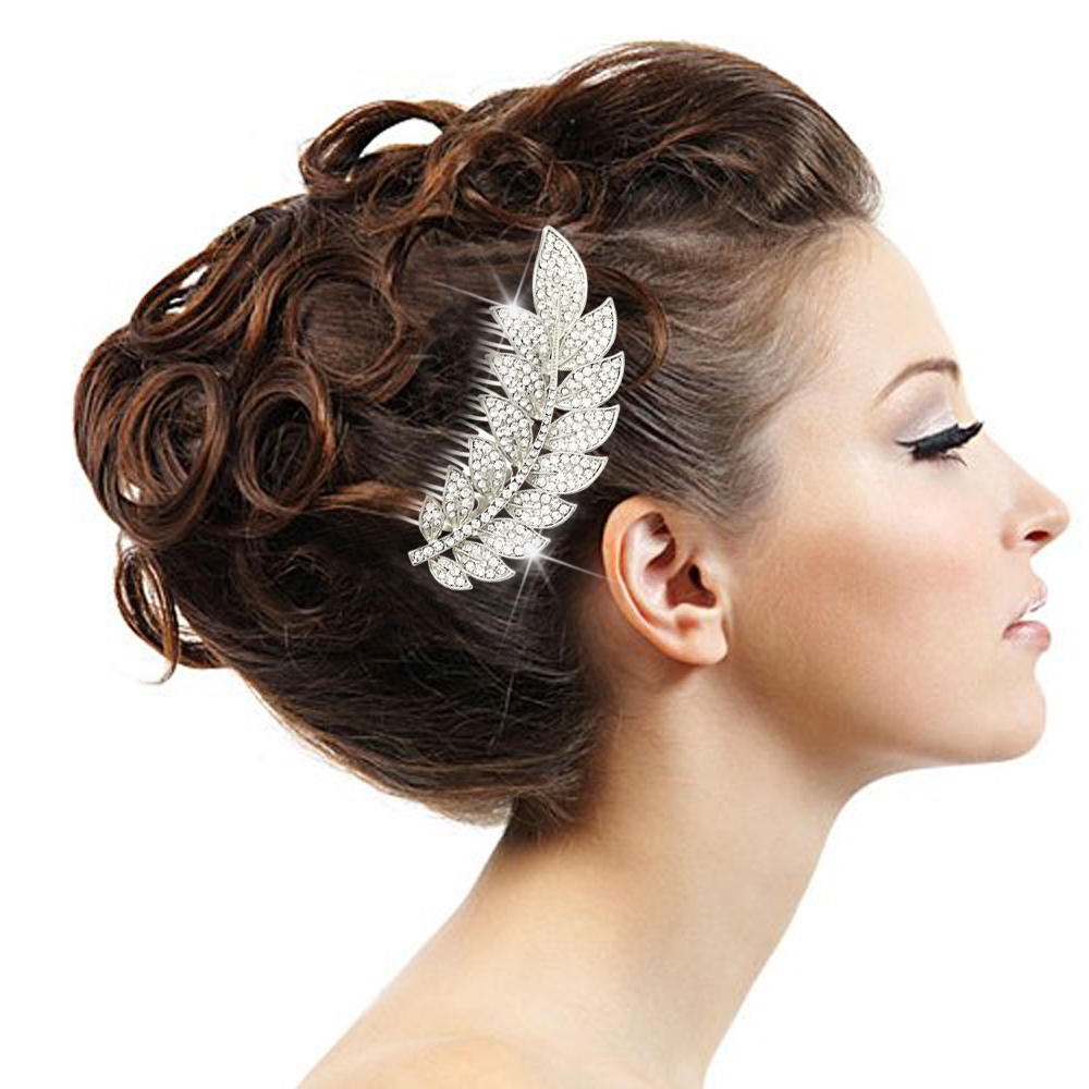 Detail Feedback Questions About Bridal Diamante Encrusted Olive Leaf