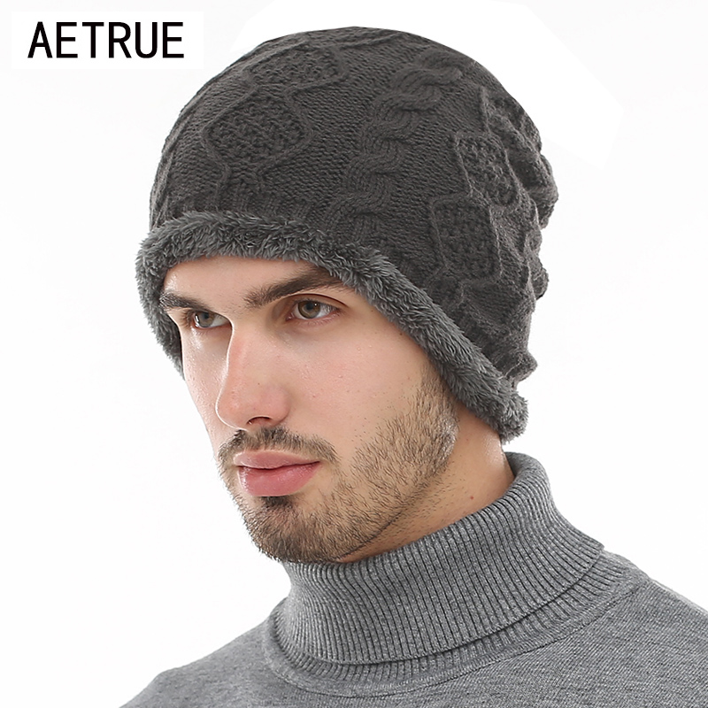 AETRUE Beanies Knitted Hat Winter Hats For Men Women Caps Bonnet Fashion Warm Baggy Soft Brand Cap Skullies Beanie Knit Men Hat