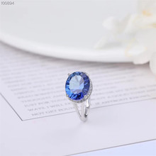 gemstone fine jewelry factory wholesale 5x7mm oval shape 925 sterling silver natural blue topaz ring for women