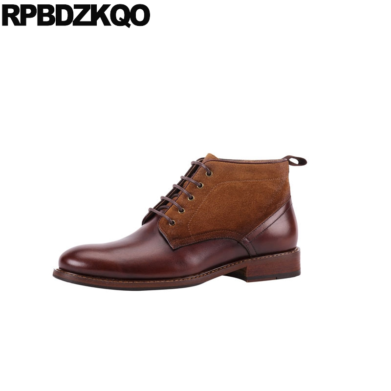 dress brown formal genuine leather designer oxford handmade fall full grain boots ankle shoes patchwork autumn party men suededress brown formal genuine leather designer oxford handmade fall full grain boots ankle shoes patchwork autumn party men suede