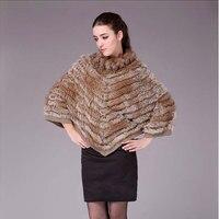 GTC110 2014 зимнее меховое Модное Новое Стильное пальто с круглым вырезом и рукавами «летучая мышь» из натурального кроличьего меха, пончо, Женс
