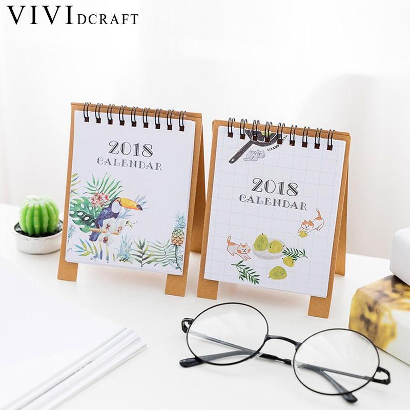 19*8.3cm Creative Desk Standing Paper Multifunction Organizer Schedule Planner Notebook 2018 Year New Kawaii Cartoon Calendar Calendars, Planners & Cards Office & School Supplies