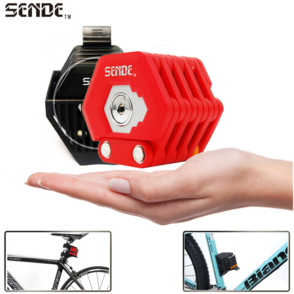 цена на Bicycle Lock Bike Anti Theft Mini Foldable Chain Lock Folding-locks Bicycle Cycling Hamburg-Locks Bicycle Parts Accessories