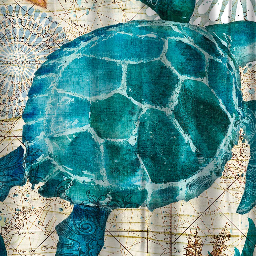 Aliexpress.com : Buy Miracille Sea Turtle Shower Curtain Mat Octopus Home  Bathroom Curtains With 12 Hooks Waterproof Polyester Fabric Bath Curtain  From ...