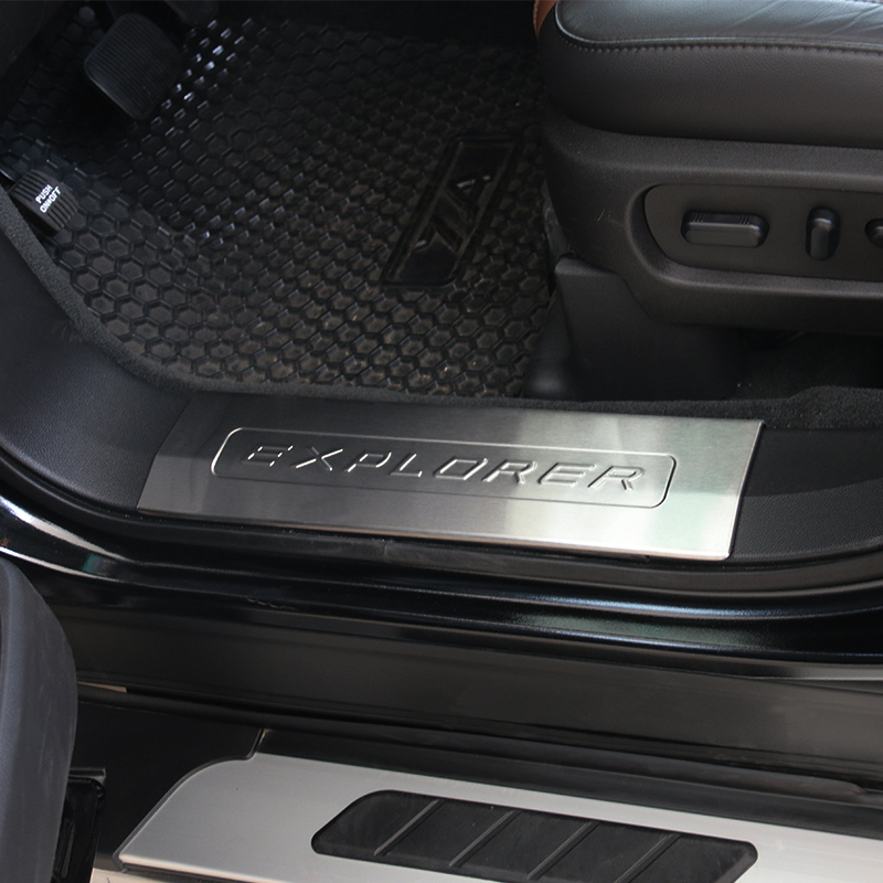 black and silver color for ford explorer inner door sill scuff plate step protector cover 2011 2012 2013 2014 2015 2016 year on aliexpresscom alibaba