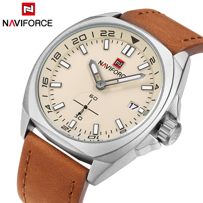 Top Luxury Brand NAVIFORCE Date Quartz watch Men Military Sports Watches Casual Leather Wrist Watch Male Clock Relogio Masculino 2017 new luxury brand naviforce watches men leather quartz digital watch man fashion military casual sports wrist watch relogio