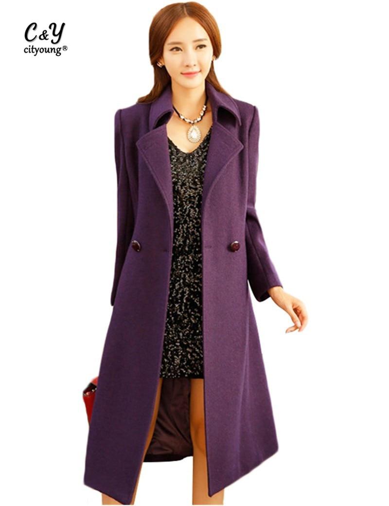 Online Buy Wholesale purple wool coat women from China purple wool