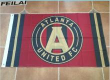 3X5FT Atlanta United FC Wincraft Red Black Indoor Outdoor Deluxe Flag Banner Flag Custom Sports Team Flag free shipping