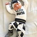 Newborn baby girl boy ropa de manga larga de dibujos animados impreso mono mameluco del bebé pequeño bebé dress