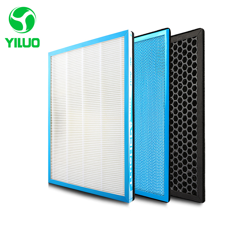купить 348*265 mm high efficiency hepa filter activated carbon filter and cold catalyst filter of air purifier parts for SKG-JH4053 etc по цене 2907.57 рублей