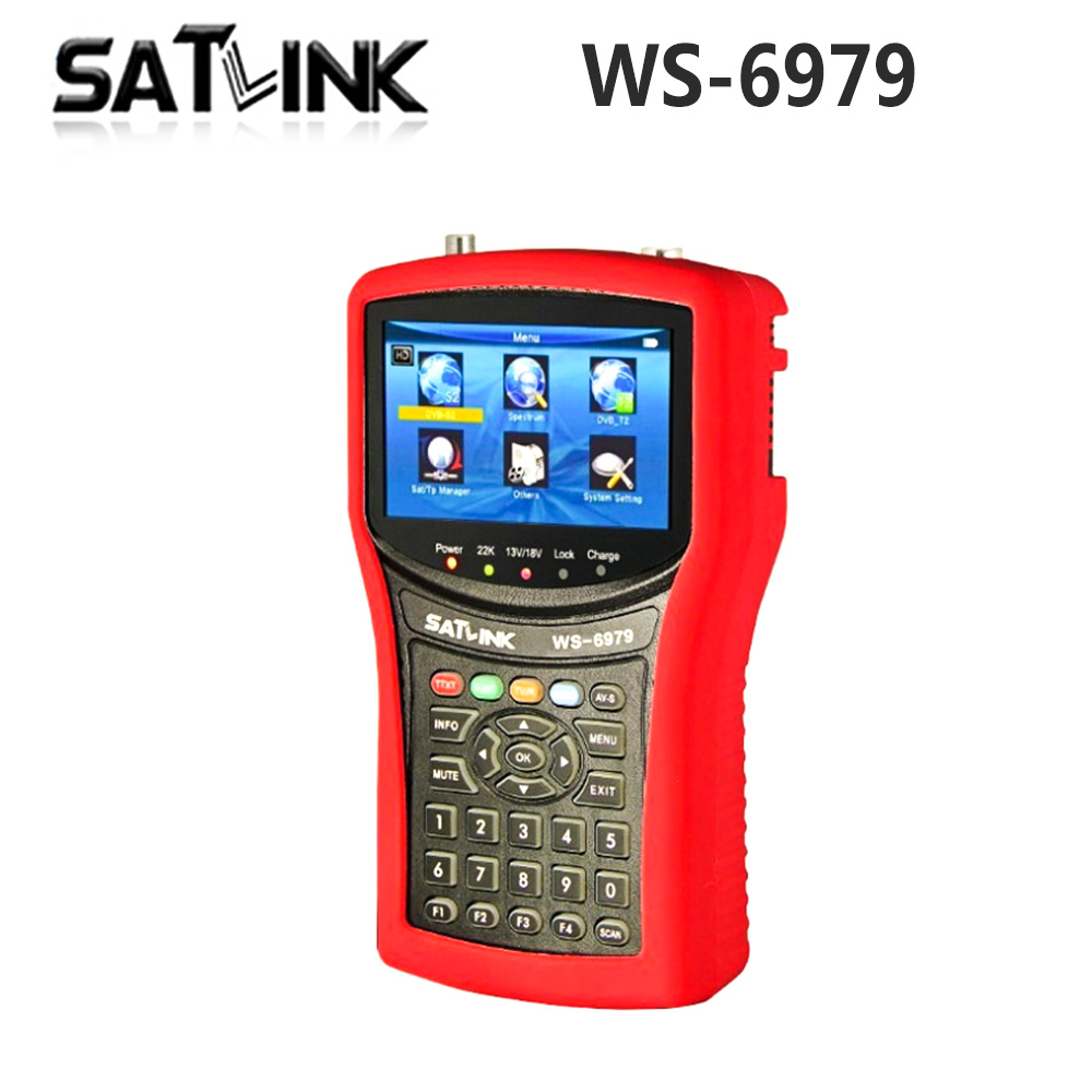 Original Satlink WS-6979 DVB-S2 & DVB-T2 Combo digital satellite finder Spectrum analyzer constellation finder meter WS6979 original satlink ws 6965 digital satellite meter fully dvb t