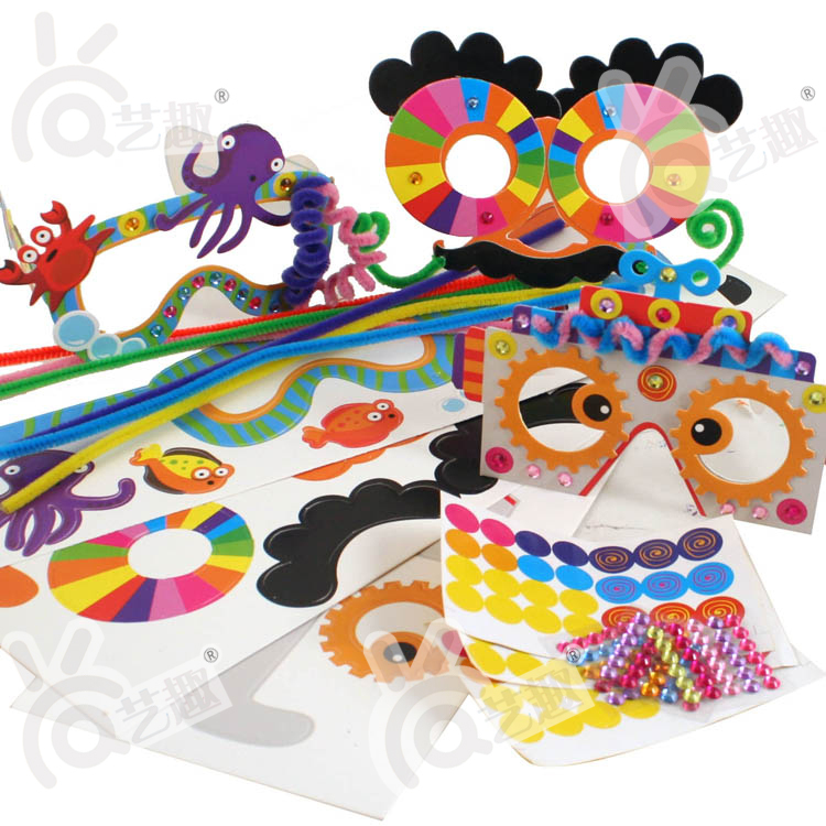 Kids Arts And Crafts Ideas Free Part - 47: 3pcs DIY Cartoon Children Glasses Kindergarden Handmade Art Craft Kids  Color Paper Stickers Educational Toys Free Shipping-in Stickers From Toys U0026  Hobbies ...