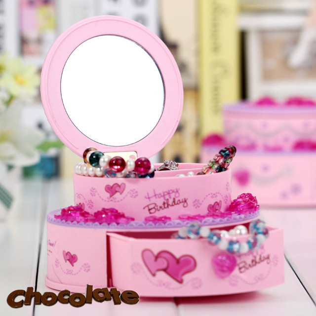 Round Birthday Cake Music Box For Alice Classical Jewel Case double