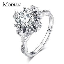 Высокое качество модный бренд 5A Циркон Настоящее Твердые 925 серебряное кольцо обручальное rimantic обручальные кольца ювелирные изделия для женщин