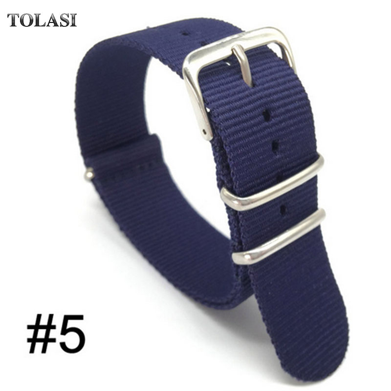 2017 Nato Nylon Strap 20mm 18mm 22mm 24mm Watch Band Bracelet Woven For Zulu Strap 20 Mm Wristwatch Band Buckle Fabric 24mm nylon watchband for suunto traverse watch band zulu strap fabric wrist belt bracelet black blue brown tool spring bars