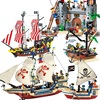 Pirates Ship black Pearl boat Royal warship Caribbean Pirates ships Building Blocks Brick compatible with legoingly
