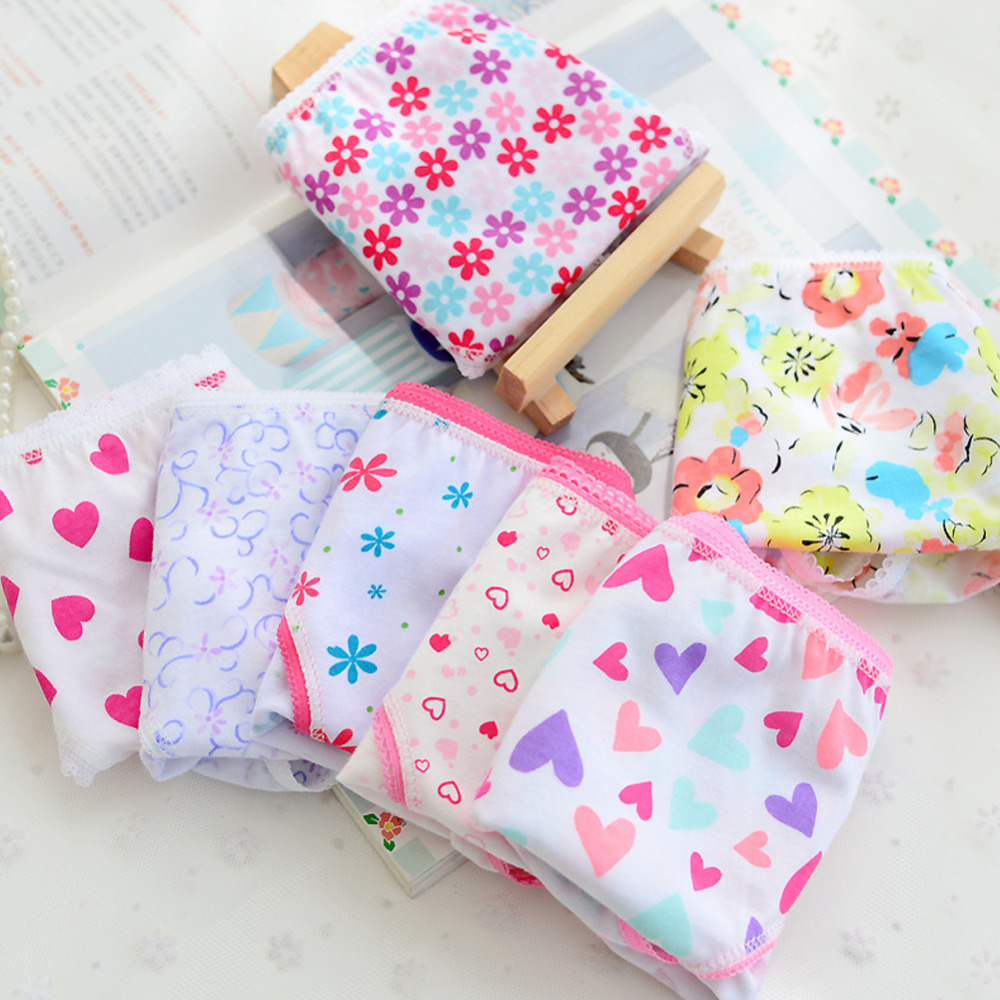 6pcs/pack 2019 Fashion New Baby Girls Underwear Cotton Panties For Girls Kids Short Briefs Children Underpants High Quality(China)