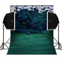 Park Flower Tree scenic for kids photos camera fotografica studio vinyl photography background backdrop cloth digital props