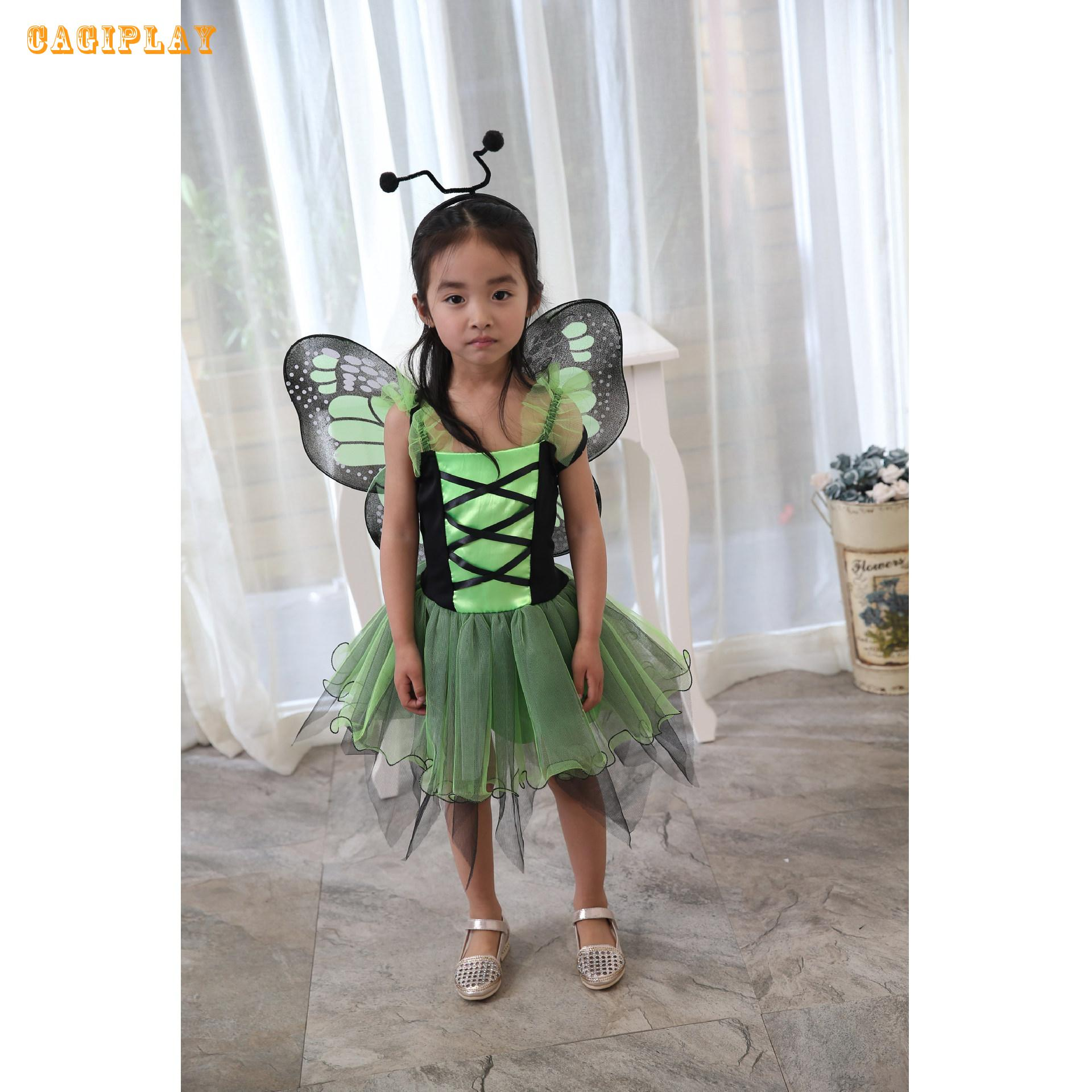 2018 Kids Carnival Clothing Girls Fairy Butterfly Cosplay Princess Dress Party Vestidos Halloween Role Play Costume Age 3 10 in Girls Costumes from Novelty Special Use