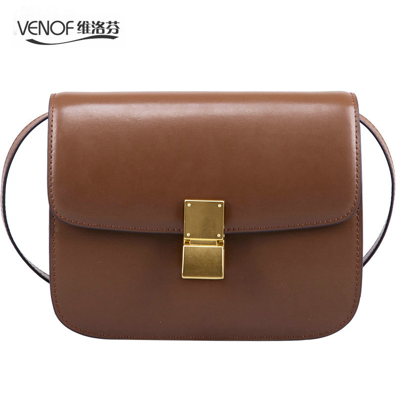 VENOF Fashion split leather Women Shoulder bag simple female crossbody Bags terse ladies Messenger bags brand bag for women 2018 brand fashion women bag female chain shoulder crossbody bags ladies split leather geometric pattern hit color messenger bags sac