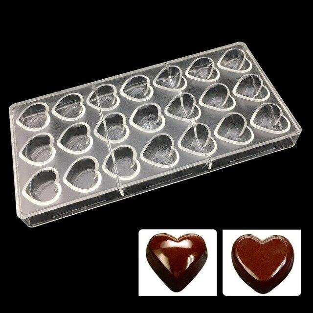 Peralatan Dapur Polycarbonate Chocolate Mold Grosir Bakeware Molde Kue Pastry Alat Pc Plastik