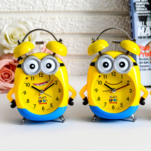 Cartoon Children Table Alarm Clock Child Bedroom Mute Bell Noctilucent Creative Fashion Cute Kids Room Decoration Clocks