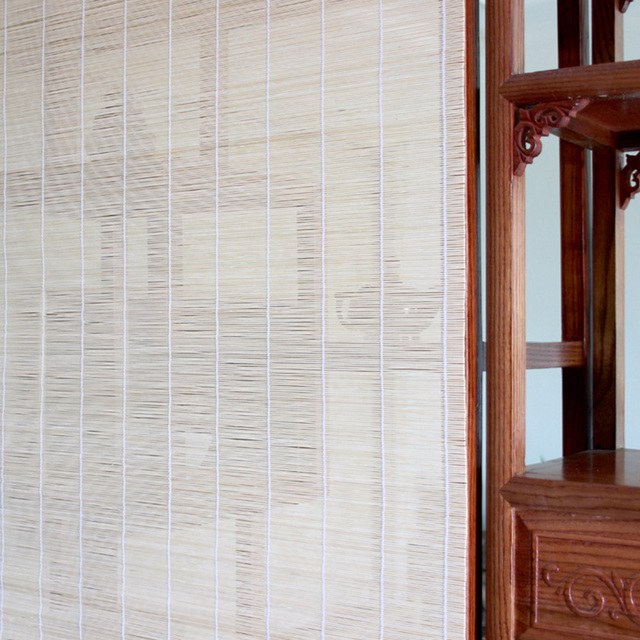 Yazi Customized Size Bamboo Curtain Rope Up Window Blinds Room Divider Wall  Window Hanging Decoration
