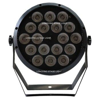 Darmowa Wysyłka 18X10 W 4in1 RGBW Płaskie LED światła Płaskie Z Tworzywa Sztucznego LED Par Może DJ DMX Par Oświetlenia Scenicznego