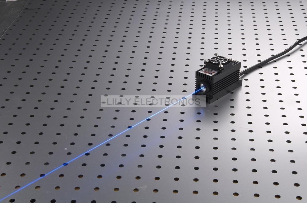 50mW 473nm Blue Laser Dot Module + TTL/Analog 0-30KHZ + TEC Cooling + 85-265V