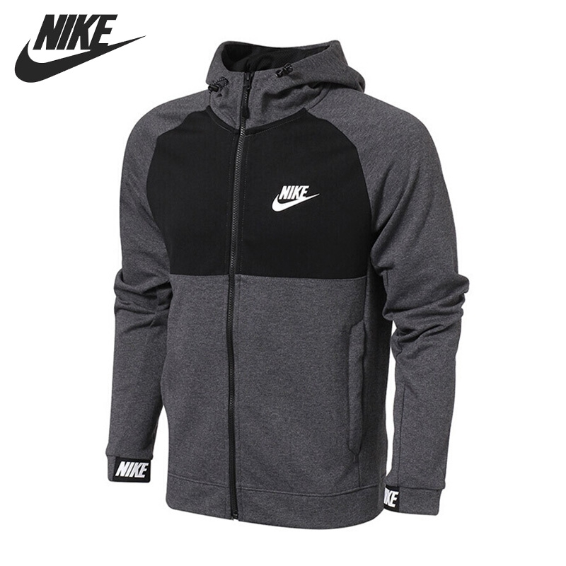Nike Original New Arrival 2018 NSW AV15 HOODIE FZ FLC Men's Running Jacket Hooded Windproof Sportswear 861743 цена