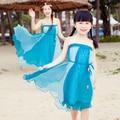 Семья взгляд соответствия мать дочь платья чешские прибытие семья одежда цветок летний пляж шифон семьи соответствующие платье