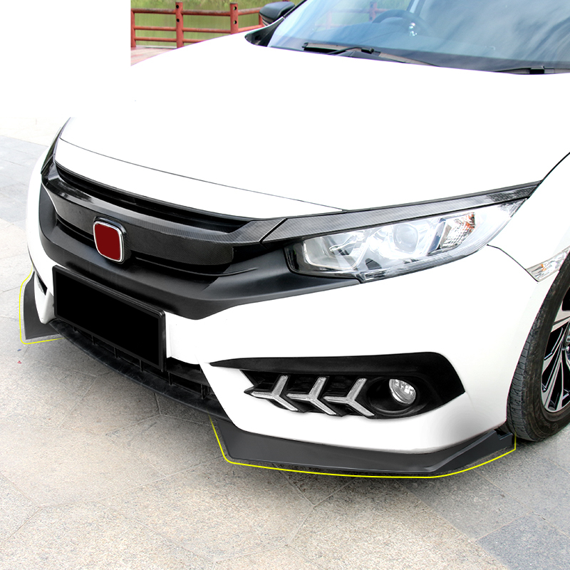 ABS CAR FRONT BUMPER SPLITTERS LIP SPOILER SIDE APRONS FIT