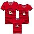 Juego de La Familia Establece Nuevo 2016 Familia Mirada de Navidad Deer Imprimir Ropa Madre Padre Hija Hijo Camiseta de Los Niños de Regalo
