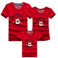 Matching Family Clothing Sets New 2016 Christmas Family Look Deer Print Clothes Mother Daughter Father Son Children T-Shirt Gift