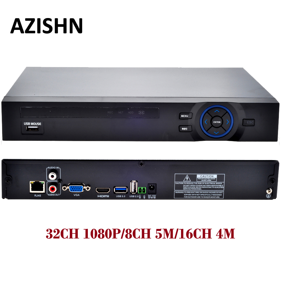 ONVIF CCTV 32CH NVR 32CH 1080P/8CH 5M/16CH 4M Security Network HDMI 1080P full HD Output Wifi 3G RTSP CCTV Video Recorder ssicon h 264 full hd 32ch 1080p cctv nvr 32channel security network recorder p2p onvif xmeye app support wifi 3g rtsp