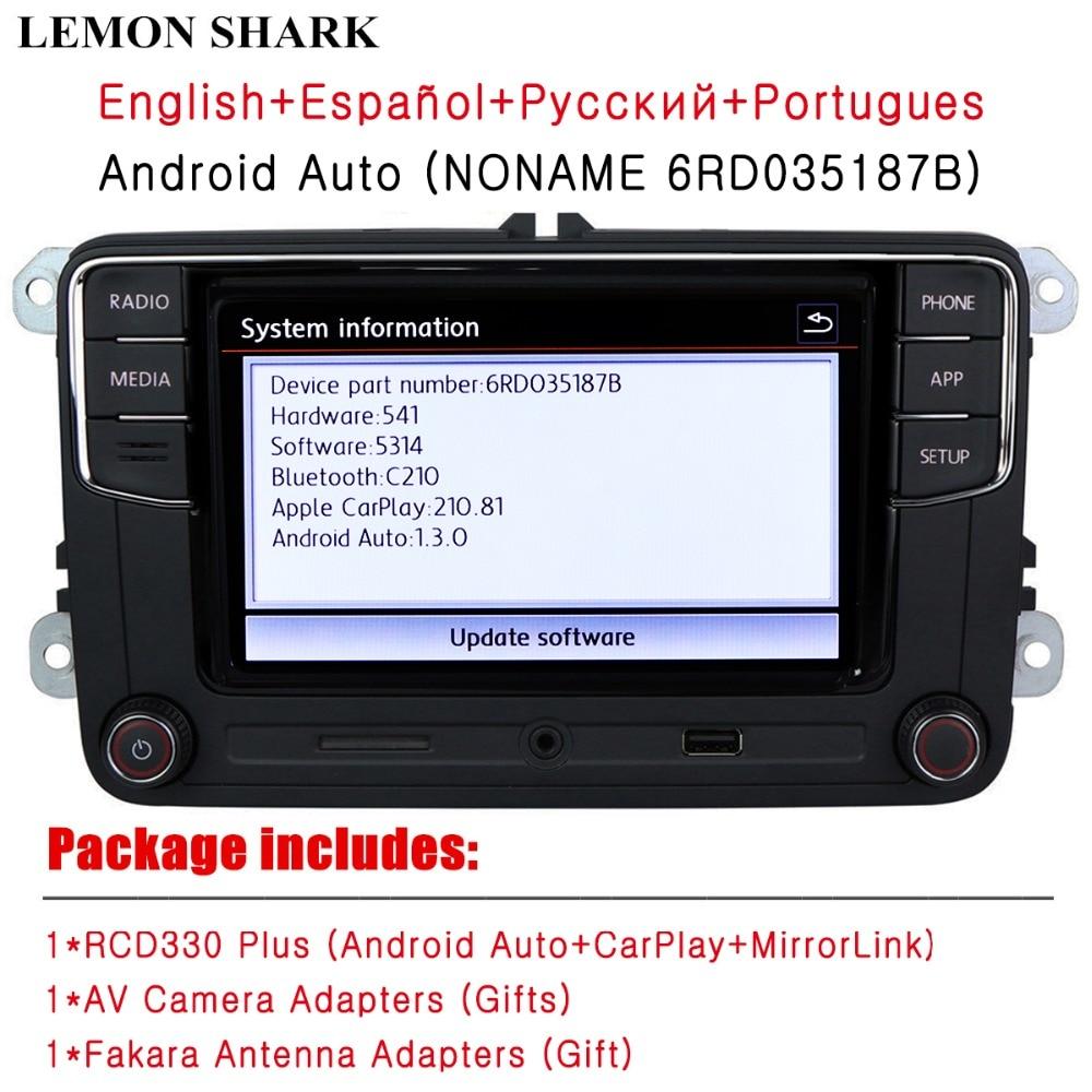 US $208 0 |RCD330 Plus RCD330G Carplay Android Auto Noname 6RD 035 187B Car  Radio MIB For VW Golf 5 6 Jetta MK5 MK6 CC Tiguan Passat Polo-in Car