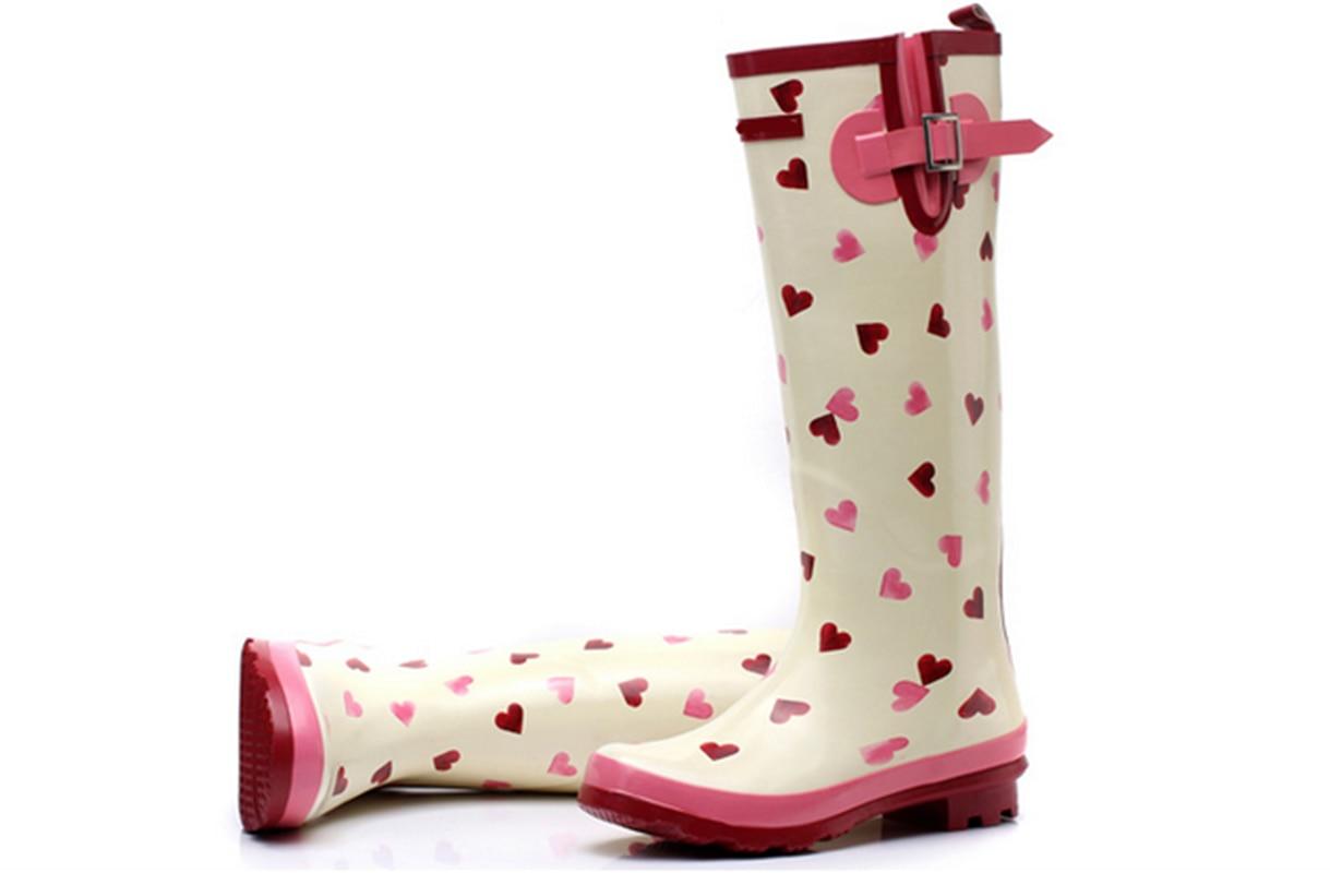 Aliexpress.com : Buy Fashion Sweet Women Rubber Rain Boots Heart ...