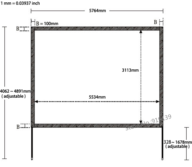 Large Tripod Stand Rear Projection Screen 250\