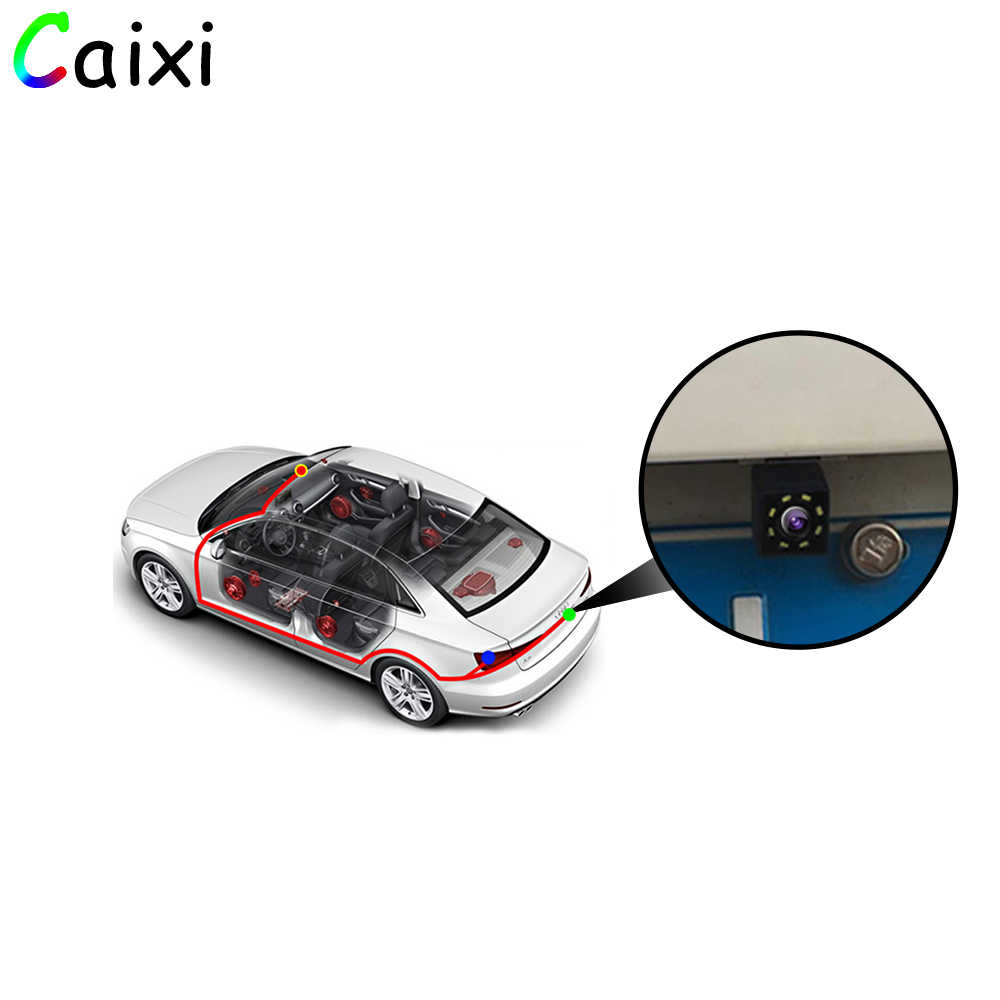 سيارة كاميرا الرؤية الخلفية العالمي النسخ الاحتياطي كاميرا لموقف السيارات للرؤية الليلية مقاوم للماء HD اللون صورة وقوف السيارات التلقائي لسيارة Raido