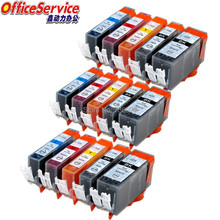 цена на 15X Compatible ink cartridges for Canon pgi-525 cli-526 pgi525 cli526, suit for IP4850 MG6250 MG8150 MG8250 MX885 MX895 printer