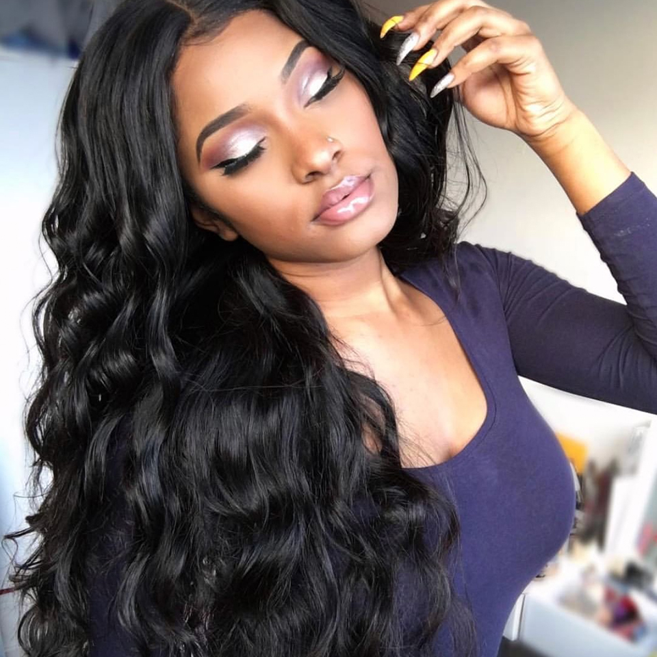 250 Density Brazilian Hair 360 Lace Frontal Wig With Baby Hair Body Wave Pre Plucked Lace