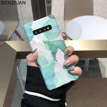 DCHZIUAN For Samsung S10 plus Case Fashion Plant Leaf Phone Cover For Samsung Galaxy S10 S9 S8 Plus Note 8 9 S9 Plus Hard Case