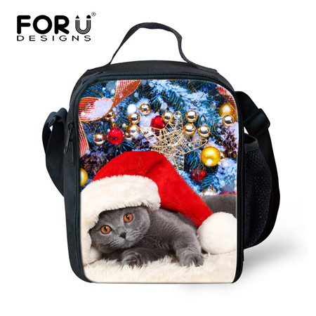 6e702d7d0318 US $15.57 18% OFF|FORUDESIGNS Unique 3D Animals Christmas Gift Printing  Lunch Bags Lunchbox for Kids Thermal Lunch Box Picnic Food Bag Insulated-in  ...