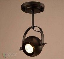 Урожай Американский Loft Огни магазин одежды потолок прожекторы Трек Свет минималистский фон спальня лампа прикроватная лампа
