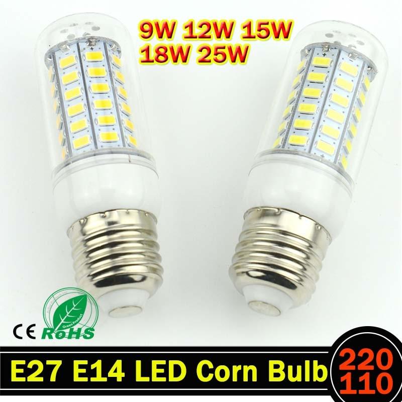E27 E14 LED Light Lamp AC 220 V SMD 5730 Led Corn Bulb Lighting Projector Lamp 69/48/36/24Led E27 Led Bulbs