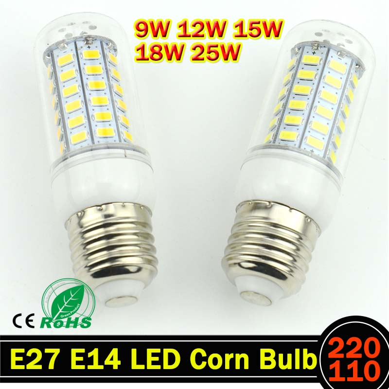 E27 E14 LED Light lamp AC 220 V SMD 5730 Led corn bulb lighting projector lamp 69/48/36/24Led E27 Led Bulbs стоимость