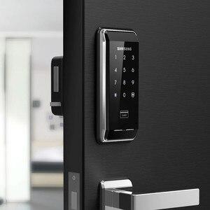 Image 2 - SAMSUNG Ezon SHS 2920 serrure de porte numérique sans clé, avec 4 cartes RFID, nouveau système de sécurité électronique, empreinte digitale